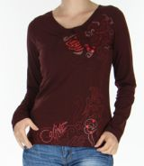 Top Femme Fashion et Original à manches longues Pachka Marron 277549