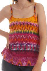 Top Fuchsia style Seventies à fines bretelles Carolina 297794