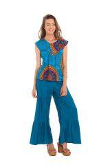Top Original et Léger pour Femme Carmino Bleu à Mandalas 281711