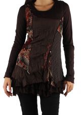 Top original pour un look bohème Valerie Marron 302929