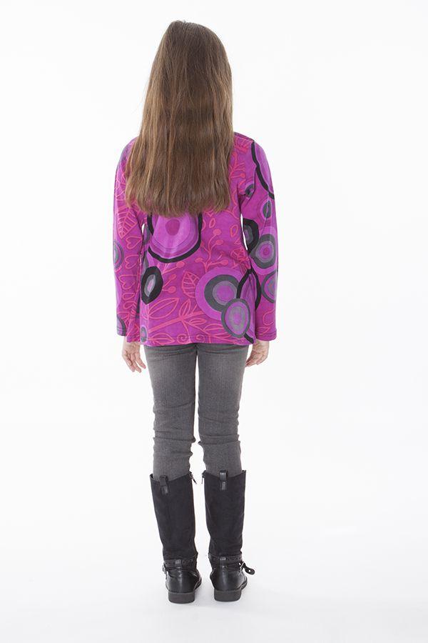 Top pour enfant à manches longues imprimé coloré 287609