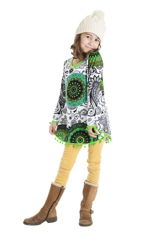 Top pour enfant avec imprimé fantaisie et manches longues Luny 302261