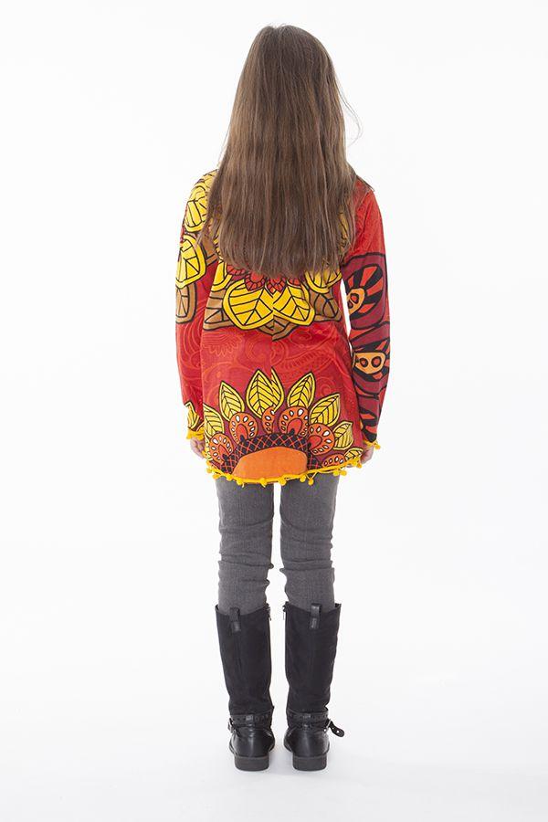 Top pour enfant avec imprimé floral et manches longues Aramis 287590