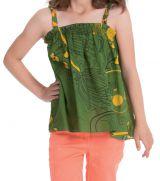 Top pour Enfant Ethnique et Coloré Vert à bretelles Flinky 280460