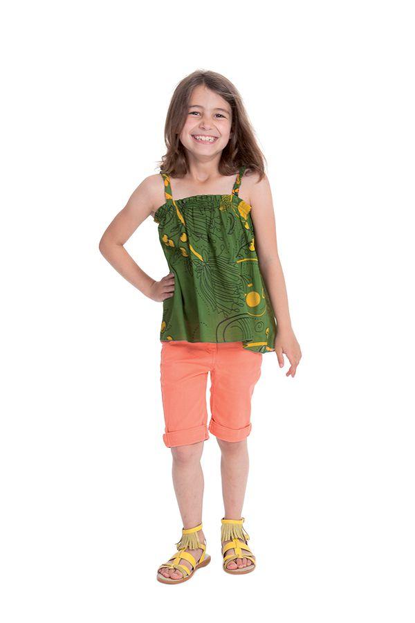 Top pour Enfant Ethnique et Coloré Vert à bretelles Flinky 280461