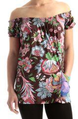 Top pour Femme à manches courtes et Epaules dénudées Imprimé et Original Sephianaé 285742