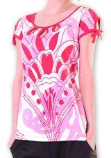 Top pour Femme à manches courtes Original et Coloré Azale Blanc 276809