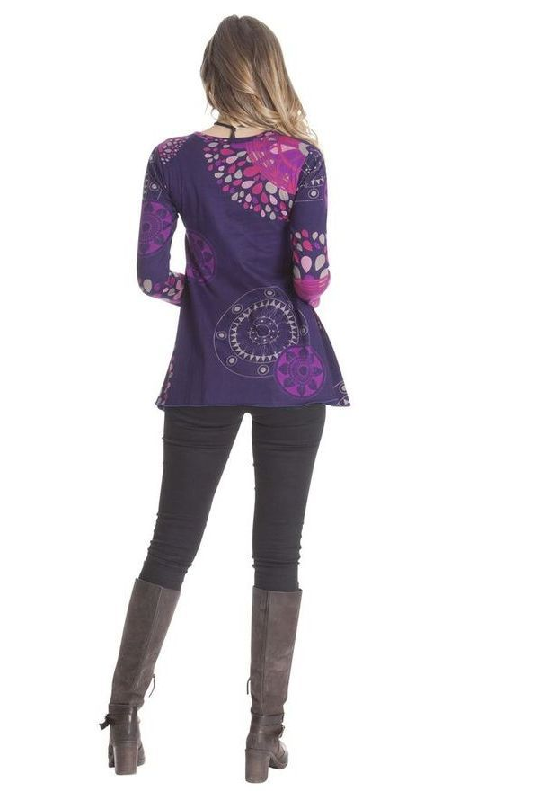 Top pour femme à manches longues Original et Coloré Rajeev 285618