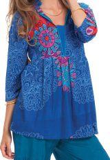 Top pour Femme Ample à encolure Originale Bleu Tabarka 281850