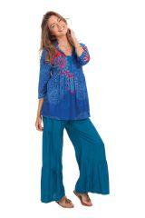 Top pour Femme Ample à encolure Originale Bleu Tabarka 281851