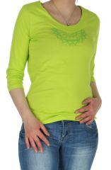 Top pour Femme Anis à manches 3/4 Ethnique et Original Grégory 284900