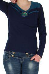Top pour Femme Bleu Marine Coloré Fashion et Pas cher Brad 278968