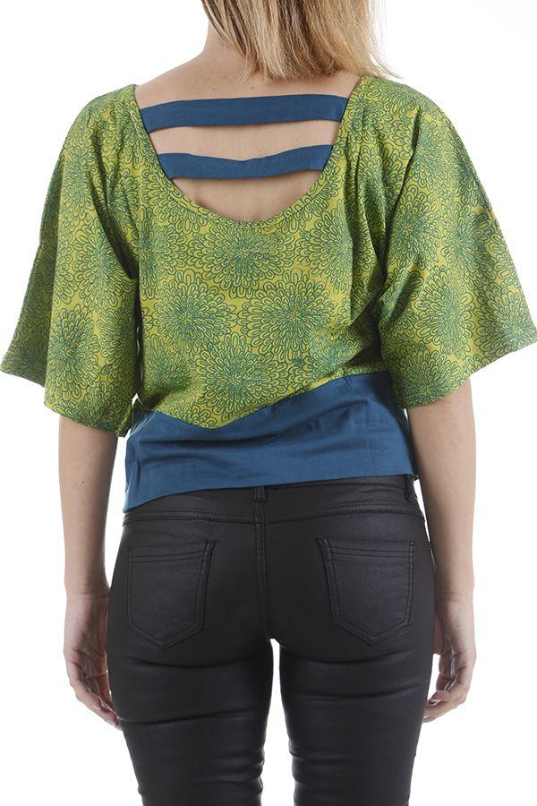 Top pour femme effet papillon ethnique et coloré Florian 310965