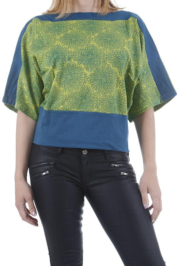 Top pour femme effet papillon ethnique et coloré Florian 310966