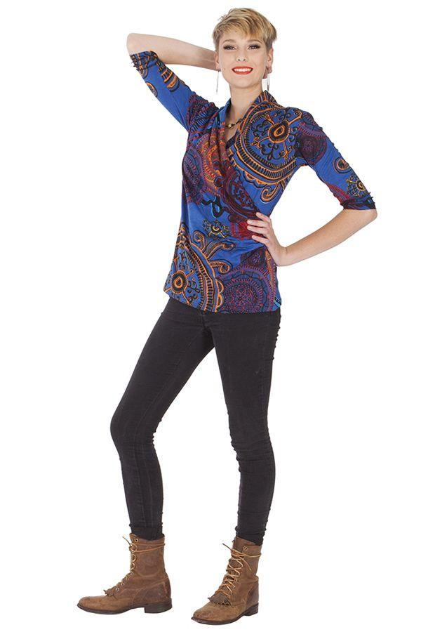 Top pour femme Ethnique effet Cache-cœur Lucio 285607