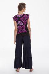 Top pour Femme Original et Léger Carmino Noir et Rose 281705
