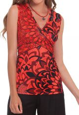 Top pour Femme Rouge sans manches Original et Coloré Cameron 282179
