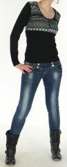 Top pour Femme Tendance et Original à manches longues Sawyer Noir 279013