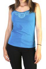 Top pour l'été à fines bretelles Imprimée et Tendance Bleu Dana 291315