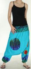 Très beau Sarouel femme original et coloré Bleu clair Ubwa 273141