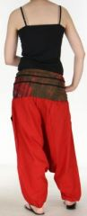 Très beau Sarouel femme original et coloré Rouge Ubwa 273148
