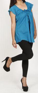 Très belle blouse femme pas chère turquoise Salsa 272012