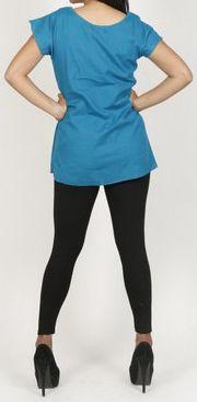 Très belle blouse femme pas chère turquoise Salsa 272013