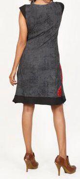 Très jolie robe courte d'été et originale - col V - Noire - Xavia 272060