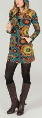 Tunique à capuche colorée et ethnique Multicolore Léliot 273885