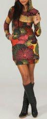 Tunique à capuche colorée et ethnique Tons chauds Hanaé 273876