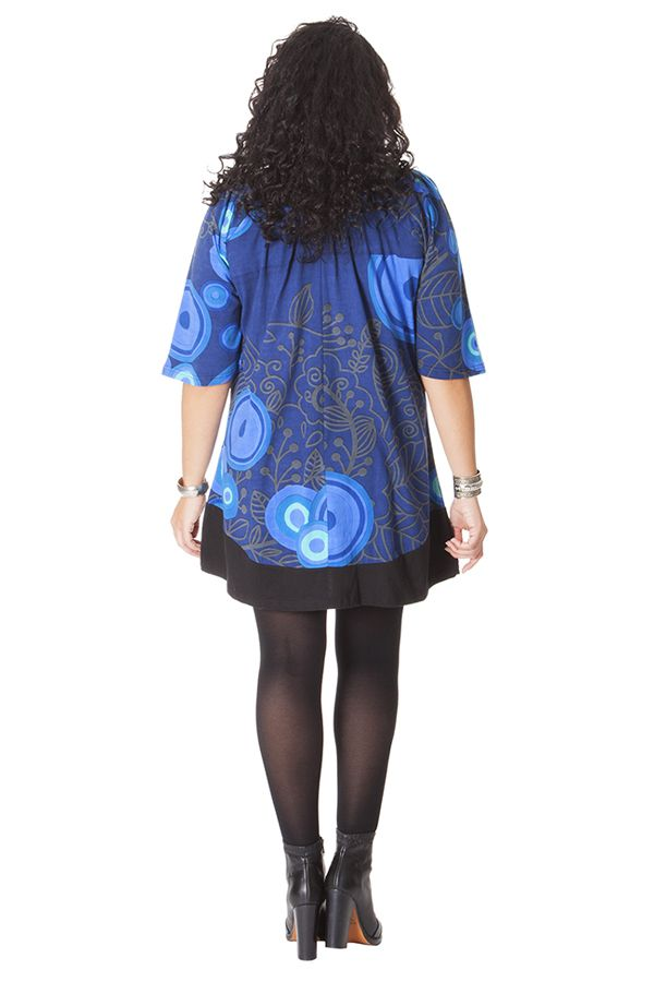 Tunique à manches 3/4 Ethnique et Féminine Bleue Stella 286501