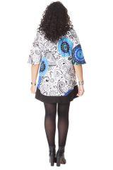 Tunique à manches 3/4 Ethnique et Féminine Stella Blanche 286497