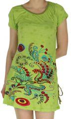 Tunique à manches courtes Anis Fluide et Colorée Patricia 282517