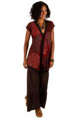 Tunique à manches courtes ethnique et originale Bendji 309905
