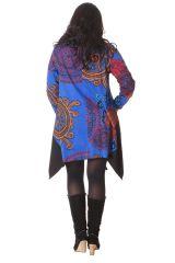 Tunique à manches longues Asymétrique et Colorée Enora Bleue 286405