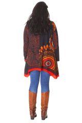 Tunique à manches longues Ethnique et Originale Annette Orange 286558