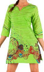 Tunique à manches longues Verte Colorée et Tendance Vâni 285829