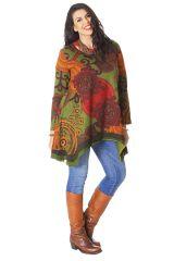 Tunique à manches longues Verte Ethnique et Originale Annette 286561