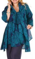 Tunique à pois col foulard femme grande taille Ruby