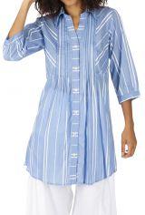 Tunique à rayures pour femme tendance chemise Laurianne
