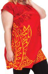 Tunique ample à manches courtes Colorée Barbara Rouge 284523