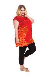 Tunique ample à manches courtes Colorée Barbara Rouge 284524