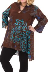 Tunique Ample et Originale Chocolat en taille XXXL Juliette 284562