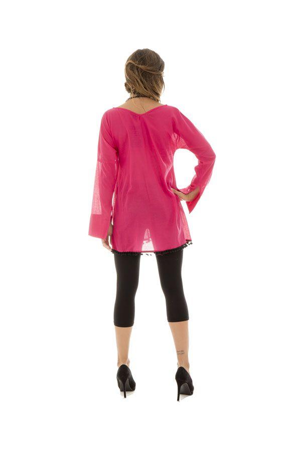 tunique ample et plissée avec pompons décoratifs Jasper 290299