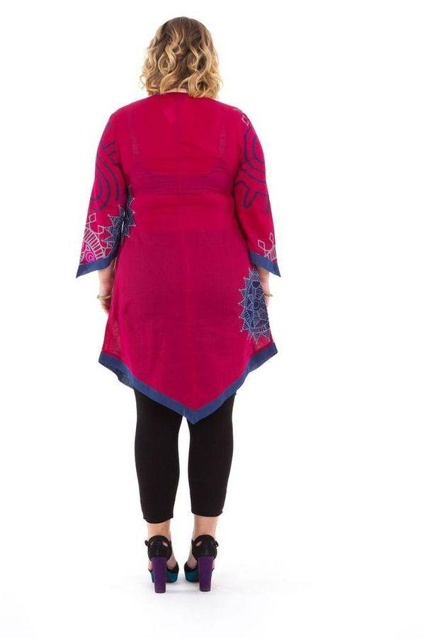 Tunique Asymétrique et Colorée pour Femme Pulpeuse Louise Rose 284606