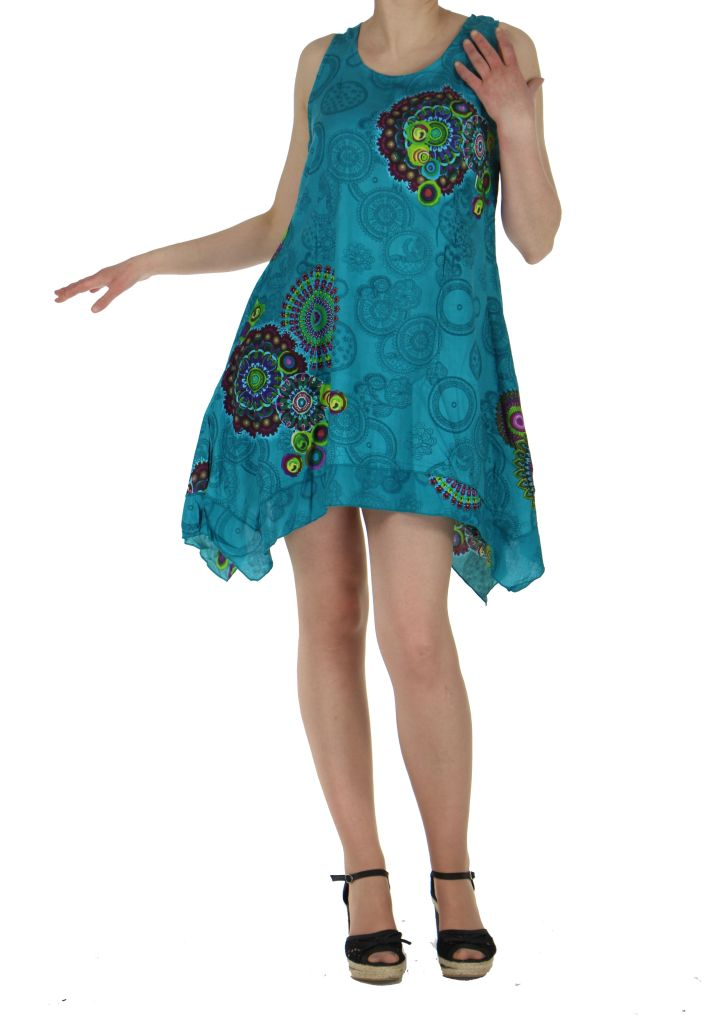 Tunique asymétrique sasha bleue 260757