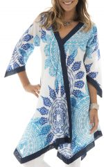 Tunique Blanche pour Femme Imprimée Mandalas et Originale Sophie 293427