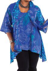 Tunique Bleue avec étole intégrée Originale et Ethnique Callas 284574