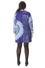 Tunique Camaïeu de Bleu Originale et Colorée pour femme pulpeuse Yetty 286566