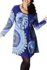 Tunique Camaïeu de Bleu Originale et Colorée pour femme pulpeuse Yetty 286721